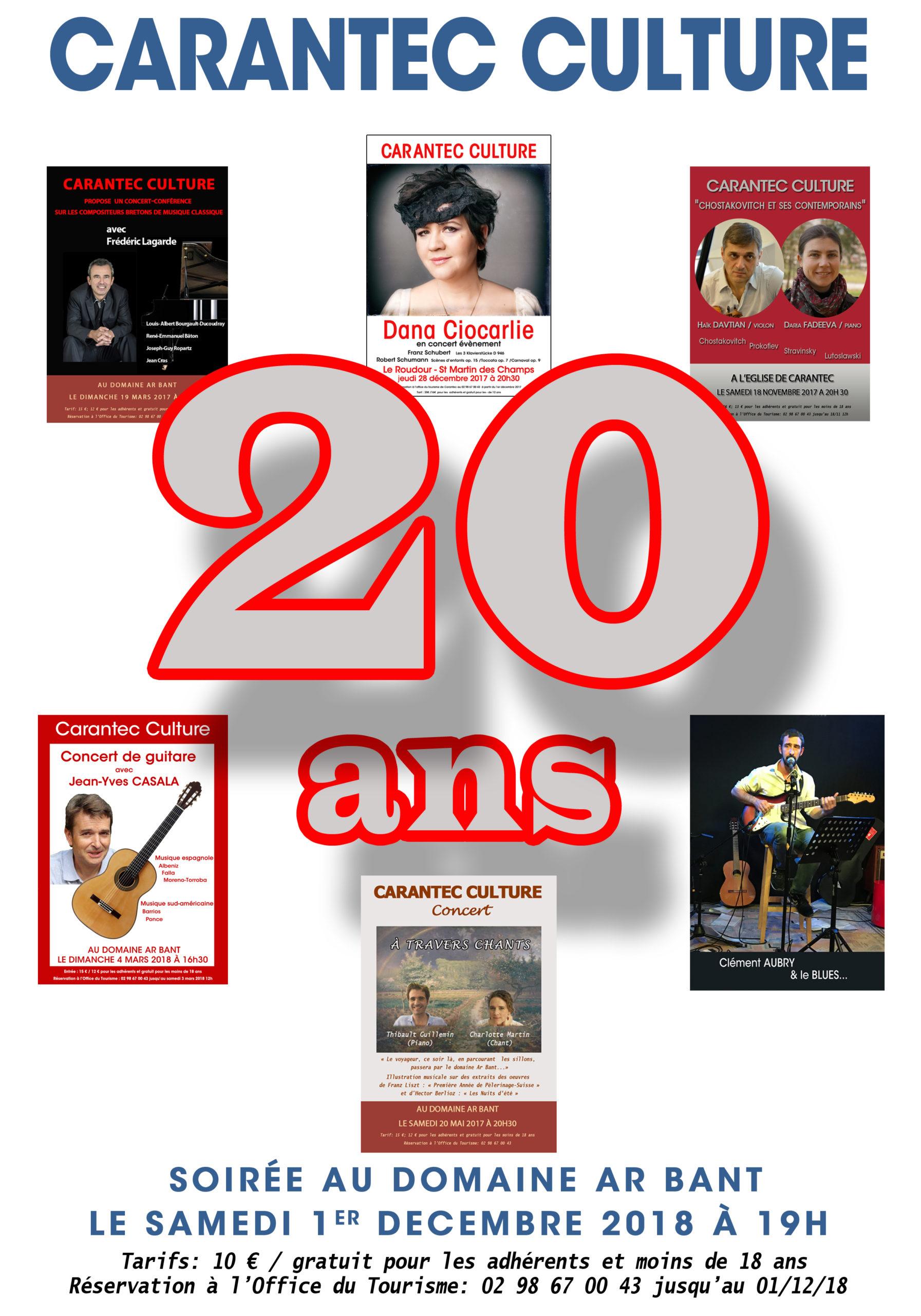 Affiche Les Vingt ans de Carantec Culture
