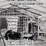 Affiche Concert Debussy Mahler Liszt Lesur