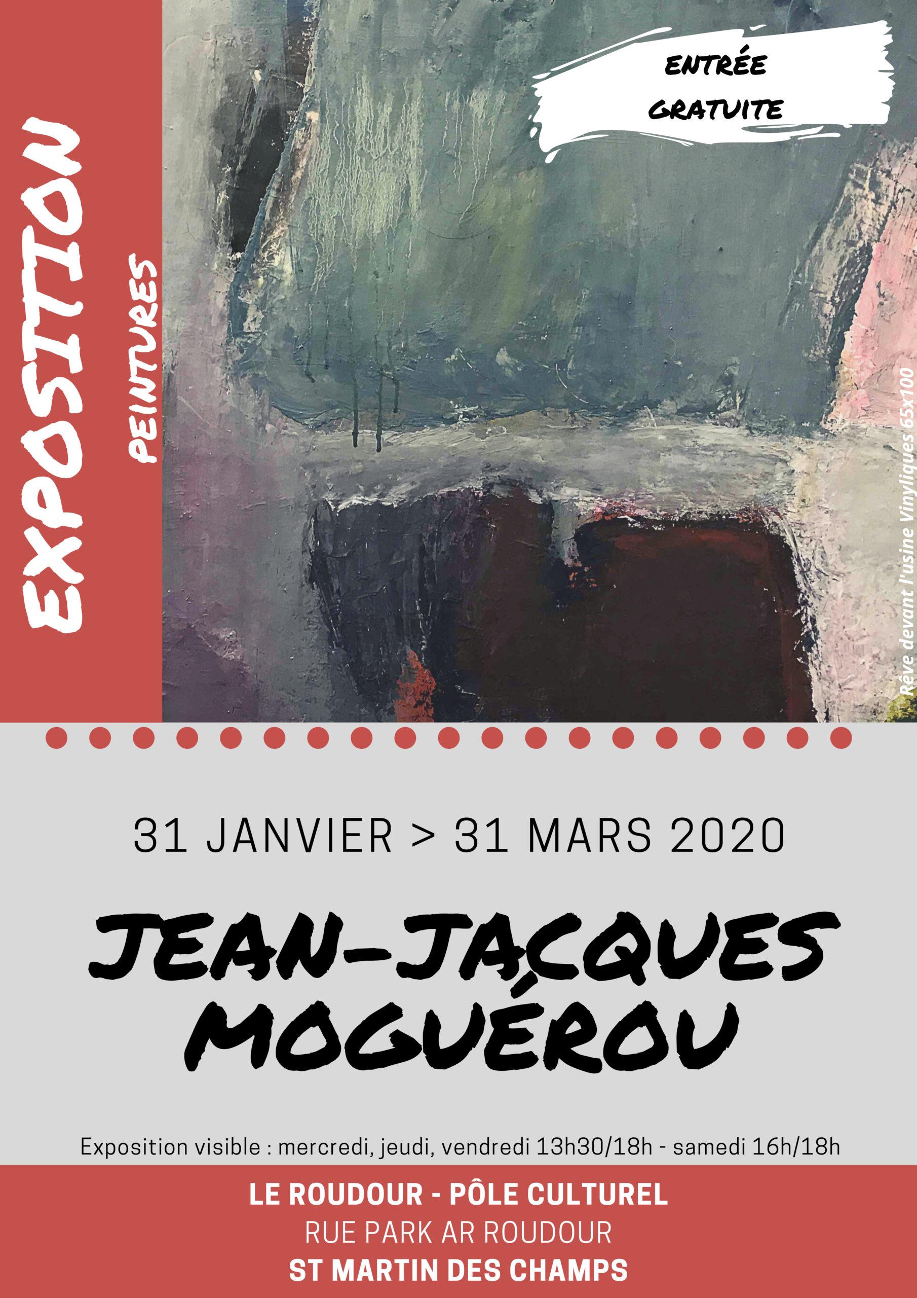 Affiche Exposition Peinture JJ MOGUEROU