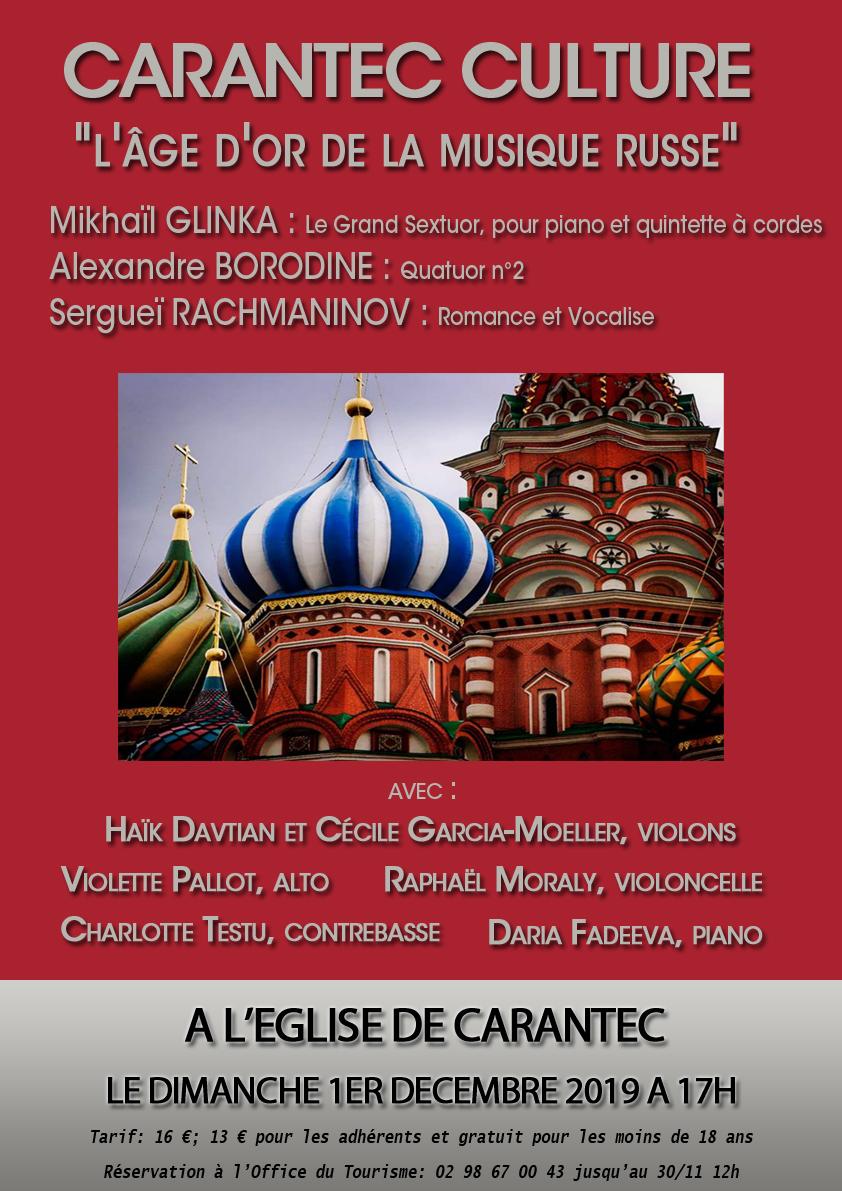 affiche age d'or de la musique russe